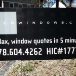 Zen Windows Yard sign